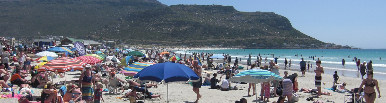 fish hoek beach,summer in fish hoek,accommodation in cape town,cape town holiday