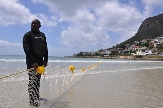 Safe swimming beach - Fish Hoek Beach shark nets
